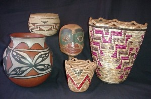 Indian Baskets are one of many antiques the Oregon Antique Buyer  is interested in purchasing.